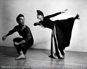 Merce Cunningham and Jean Erdman, 1942, Photo by Barbara Morgan
